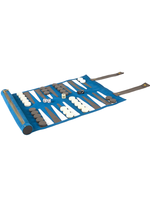 Rolled Backgammon Set // Blue
