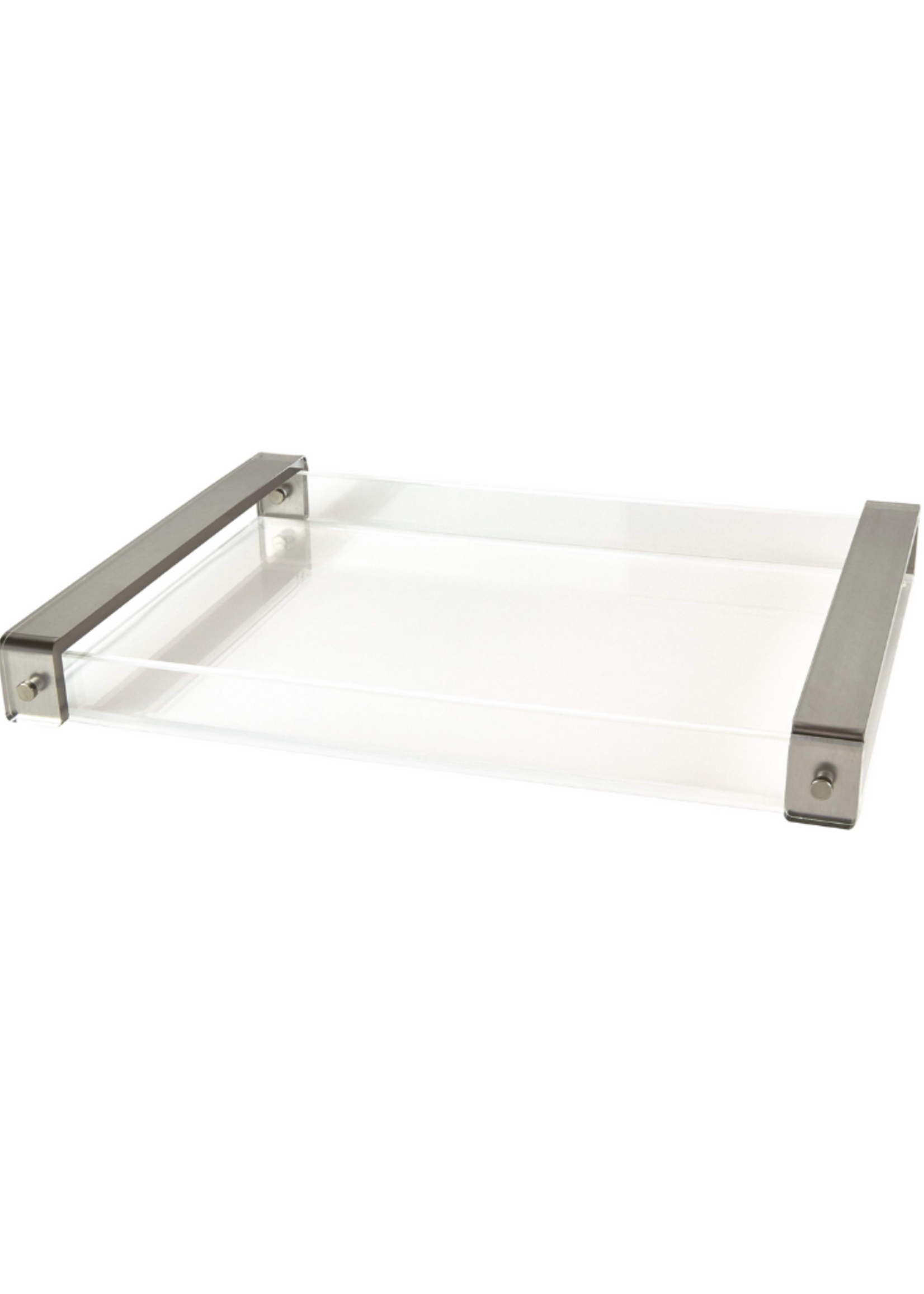 Lucite Tray // Silver Handle