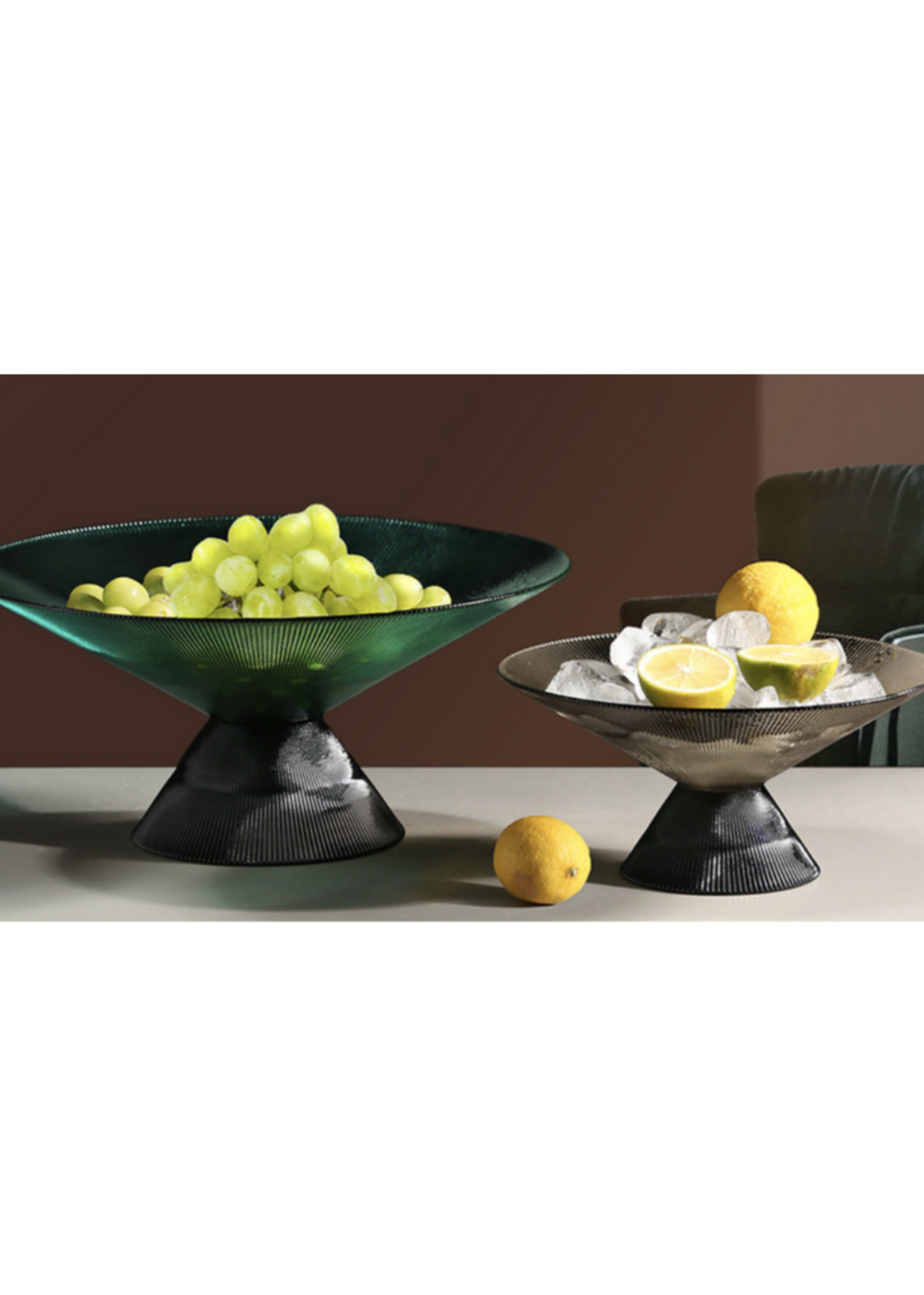 Footed Fruit/Salad Bowl // Emerald Green