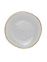Dinner Plates w Gold Rim // Set of 4