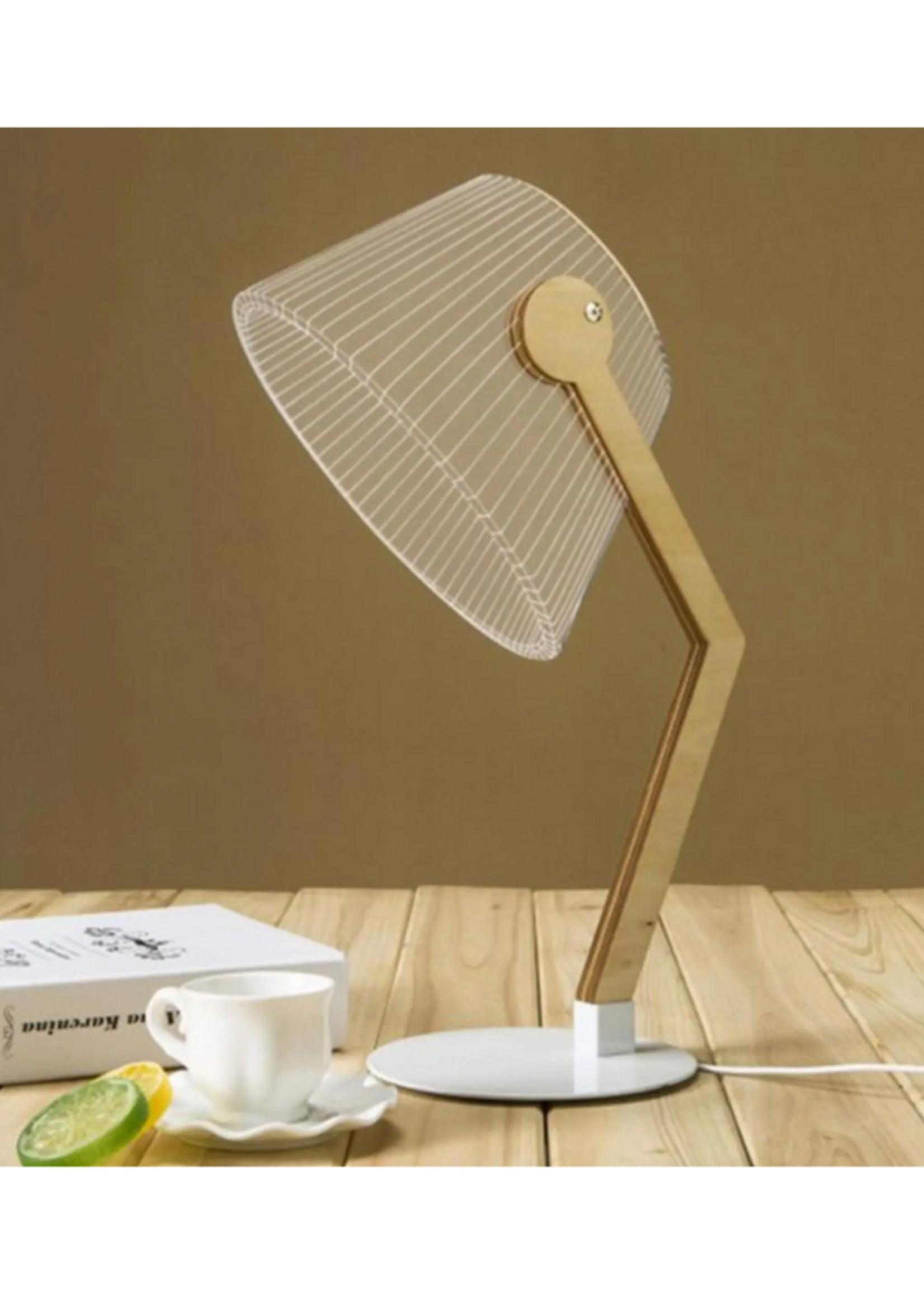 Creative 2D LED Illusion 3D Lamp