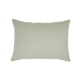Globewest Evie Velvet Cushion - Green Lily