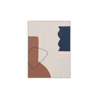 Middle of Nowhere Arles 1 - Framed Canvas - Toffee