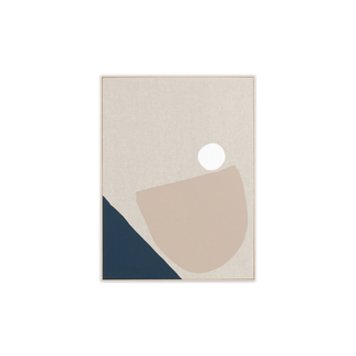 Middle of Nowhere Esna 1- Framed Canvas - Navy