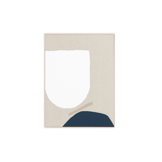 Middle of Nowhere Esna 2- Framed Canvas - Navy