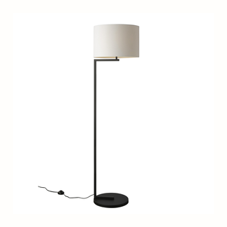 Alessia Floor Lamp - Black Base / White Shade
