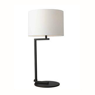 Alessia Table Lamp - Black Base / White Shade