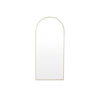 Middle of Nowhere Bjorn Arch Floor Mirror - Brass
