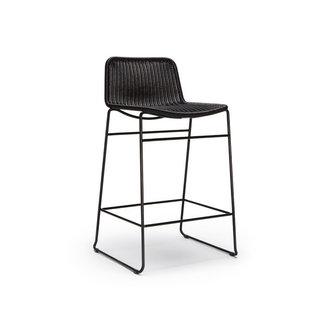 C607 Barstool - Black Rattan (Indoor / Outdoor)