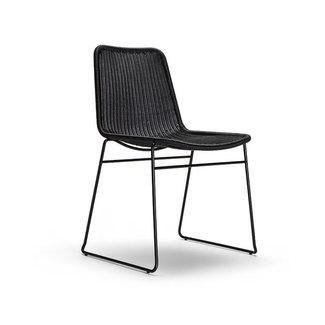 Feelgood Designs C607 Dining Chair - Black Rattan (Indoor / Outdoor)