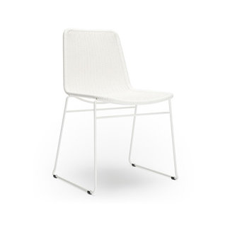 Feelgood Designs C607 Dining Chair  - White Rattan (Indoor / Outdoor)