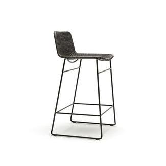 Feelgood Designs C607 Barstool - Charcoal Rattan (Indoor)