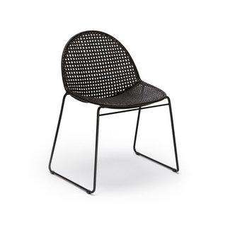 Feelgood Designs Reef Dining Chair - Black Rattan (Indoor)