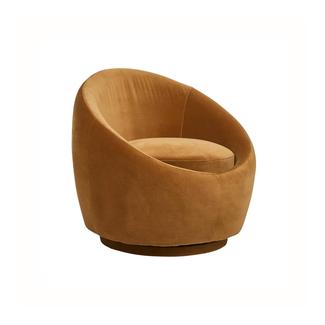 Globewest Kennedy Globe Swivel Chair - Toffee Velvet