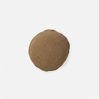 Citta Design Citta Heavy Linen Jute Round Cushion - Matcha
