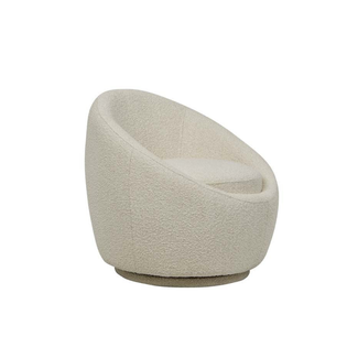 Globewest Kennedy Globe Swivel Chair - Beige Boucle