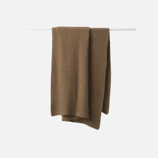 Citta Design Citta Purl Knit Cotton Throw - Pickle