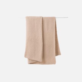 Citta Design Citta Purl Knit Wool Throw - Rice