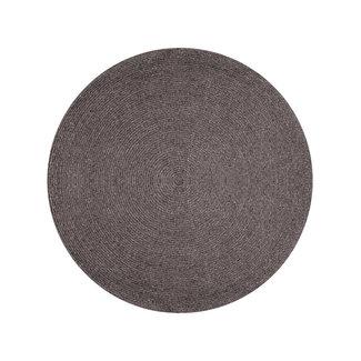 The Rug Collection Paddington Round Rug - Charcoal