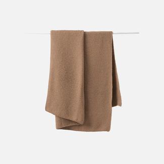 Citta Design Citta Purl Knit Wool Throw - Walnut
