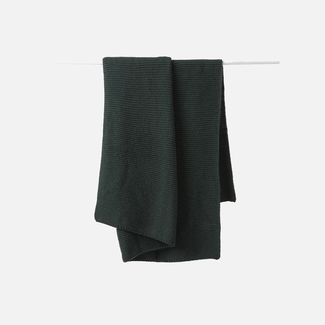 Citta Design Citta Purl Knit Wool Throw - Nori