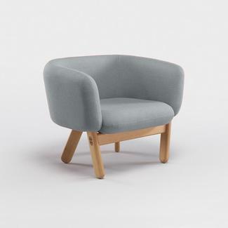 Globewest Tolv Copal Occasional Chair - Haze Grey