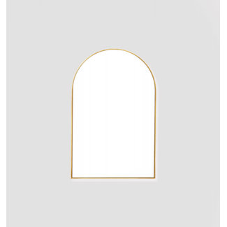 Middle of Nowhere Bjorn Arch Mirror - 55 x 85 - Brass