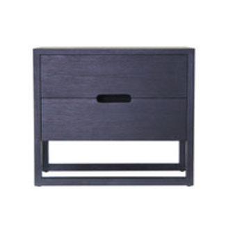 Dwell Solaris Bedside Table - Charcoal