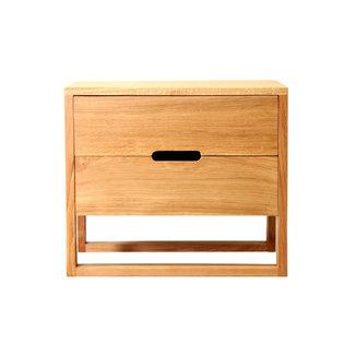Dwell Solaris Bedside Table - Natural Oak