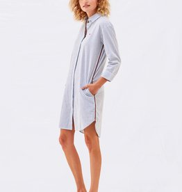 Sundry Sundry Pinstripe Shirt Dress
