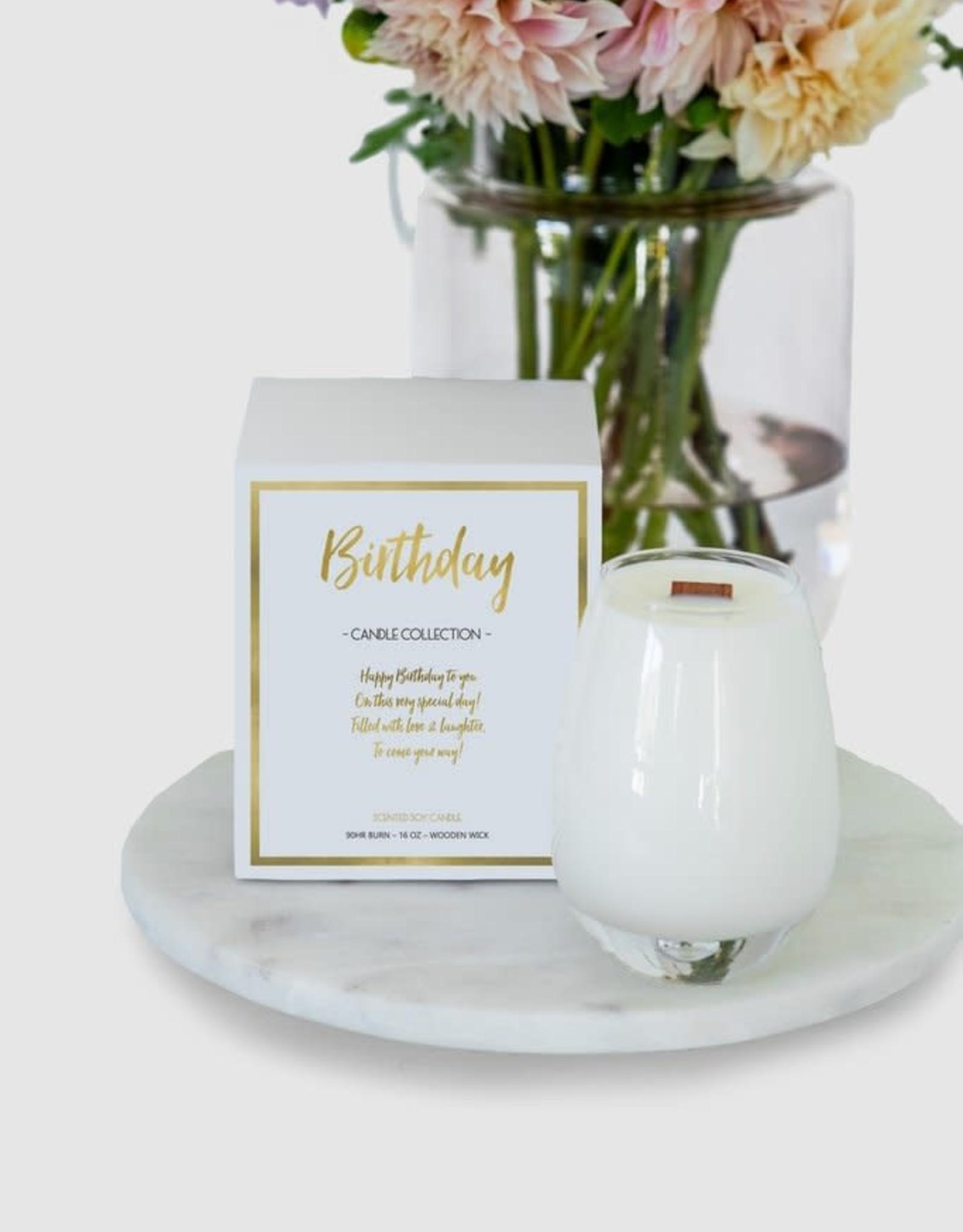 Gratitude Glass Jars Birthday Candle