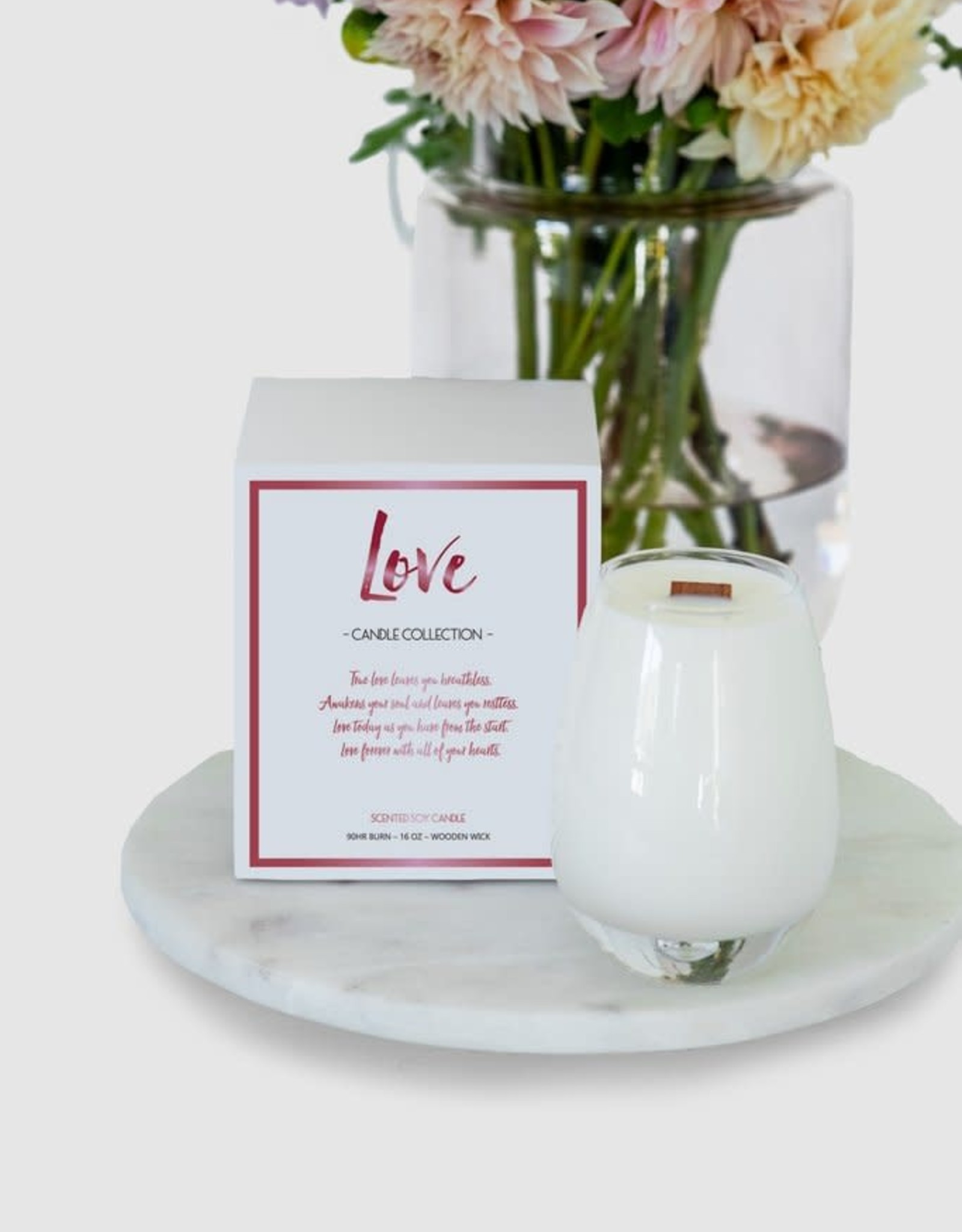 Gratitude Glass Jars Love Candle
