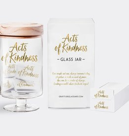Gratitude Glass Jars Acts of Kindness Glass Jar