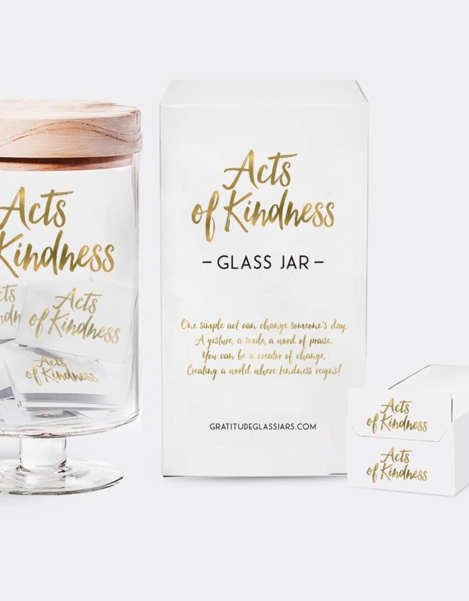 Gratitude Glass Jars Acts of Kindness Glass Jar