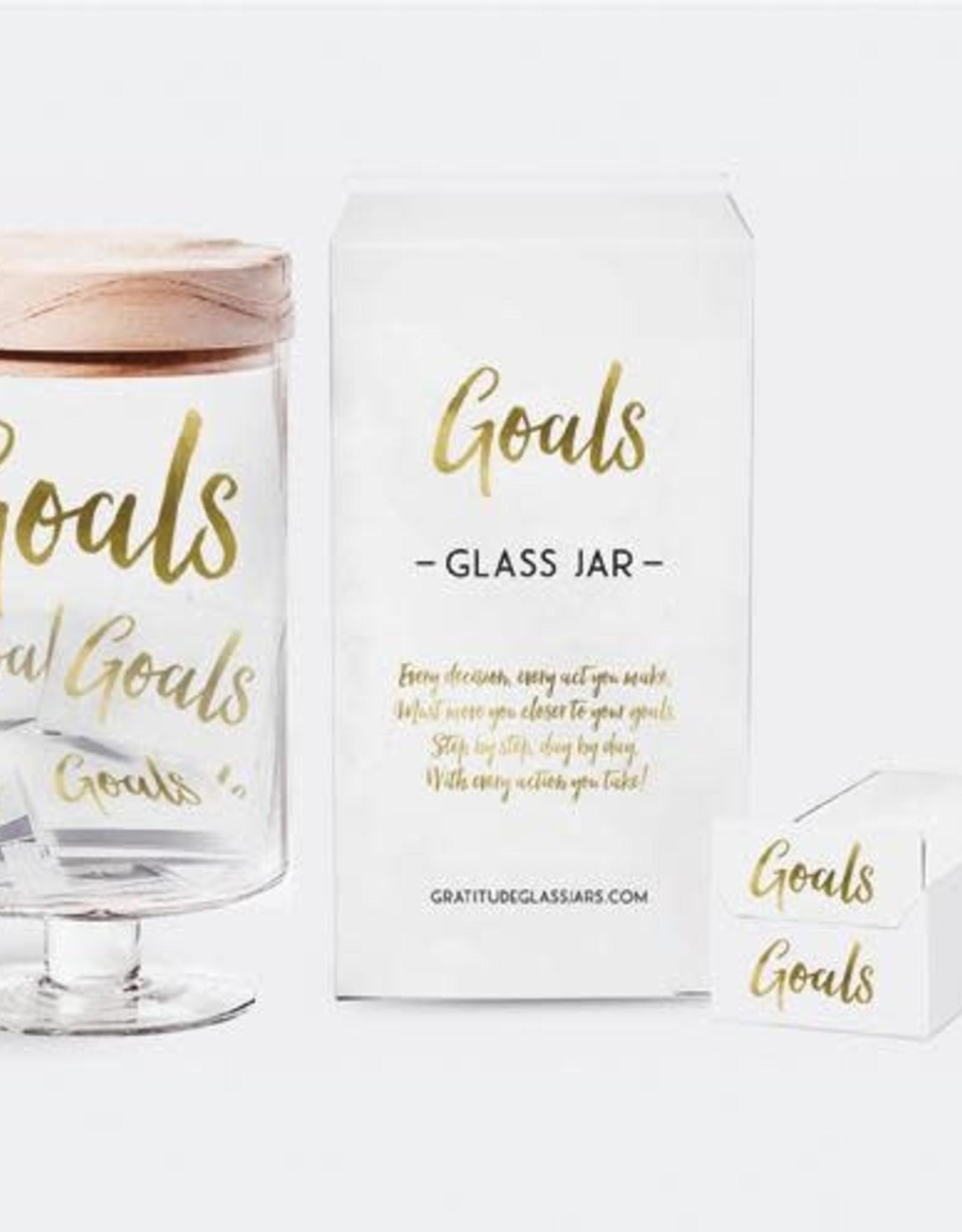Gratitude Glass Jars Goals Glass Jar