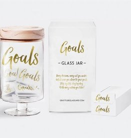 Gratitude Glass Jars Goals Glass Jar