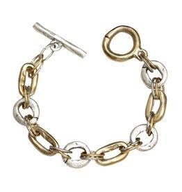 Tat2 Tat2 Hammered Link Bracelet