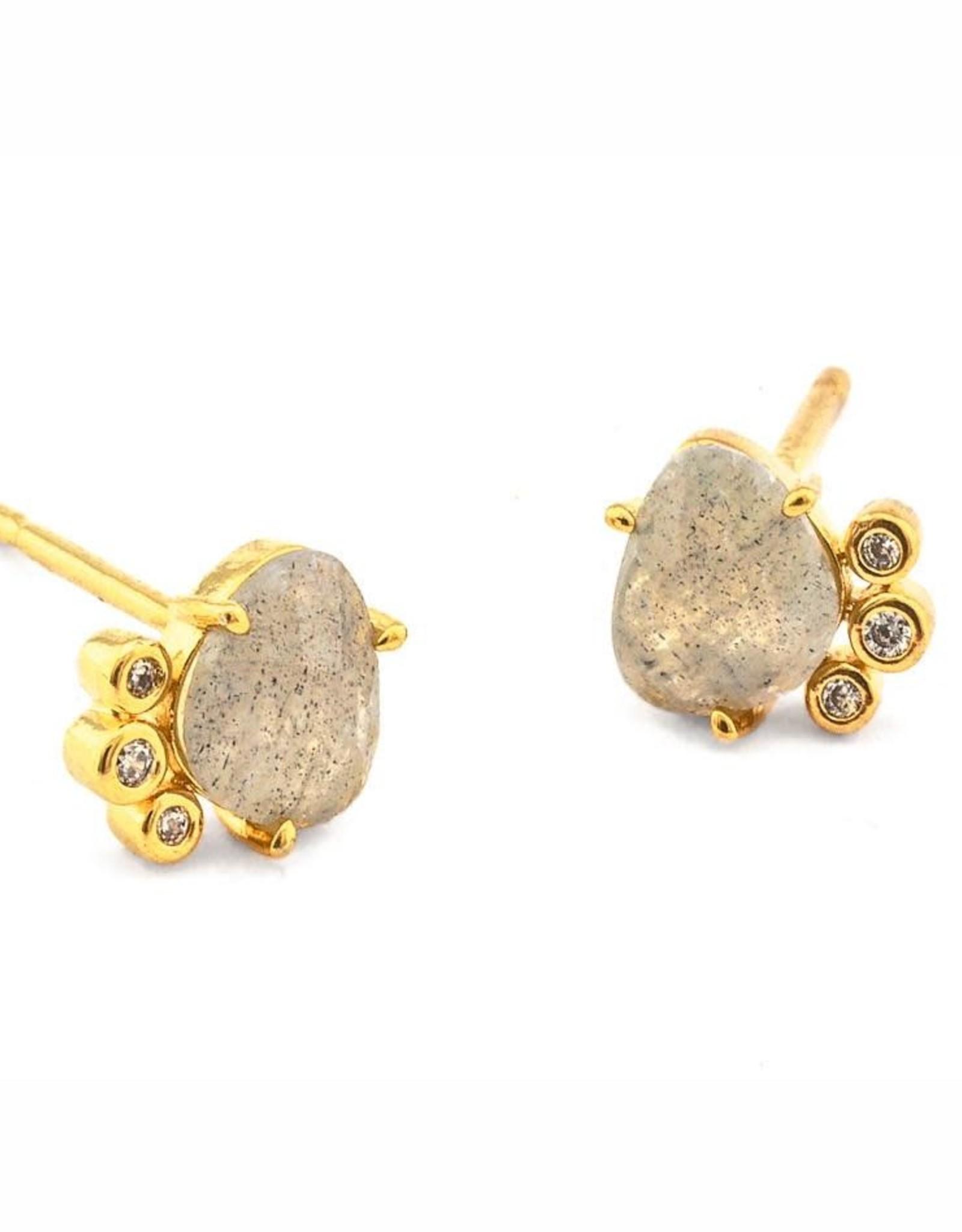 Tai Jewelry Tai Stone and Bezel Earring
