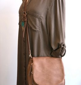 DT Cross Body Vegan Leather Bag