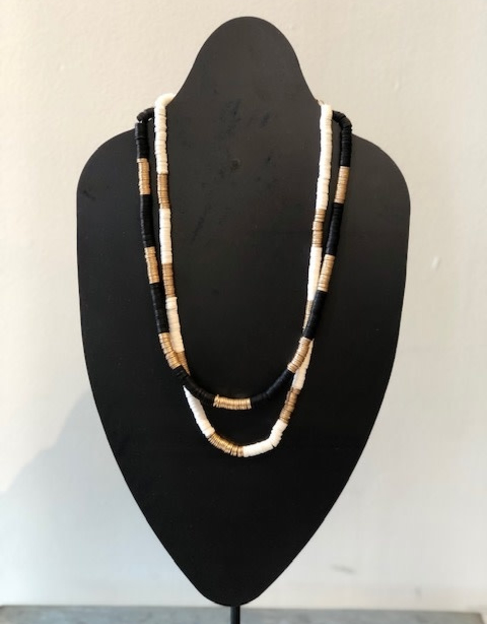DT Beaded Stone and Gold Necklace