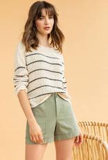 LillaP LillaP Stripe Boatneck Sweater