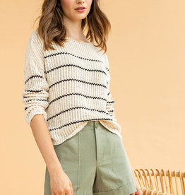 LillaP LillaP Stripe Boatneck Sweater