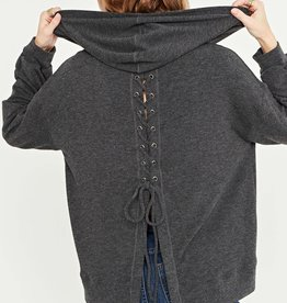 Project Social T Project Social T Lace Up Back Hoodie