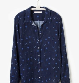 Xirena Xirena Scout Shirt Navy Dot