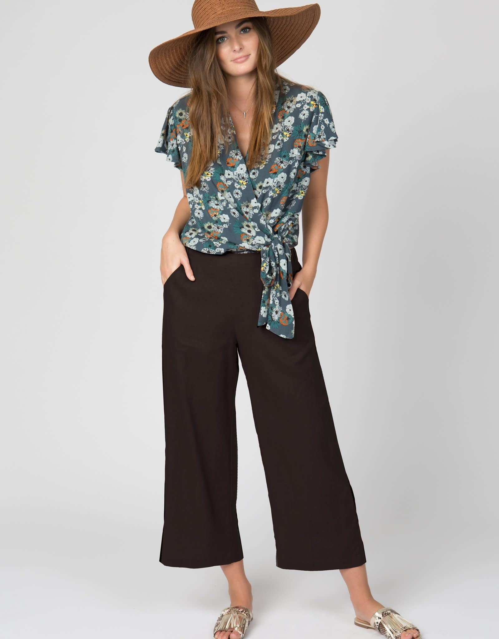 4 our Dreamers 4 our Dreamers Linen Pant Navy