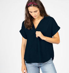 4 our Dreamers 4 our Dreamers Linen Top Black