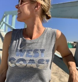 I Am I Am West Coast Tank Grey
