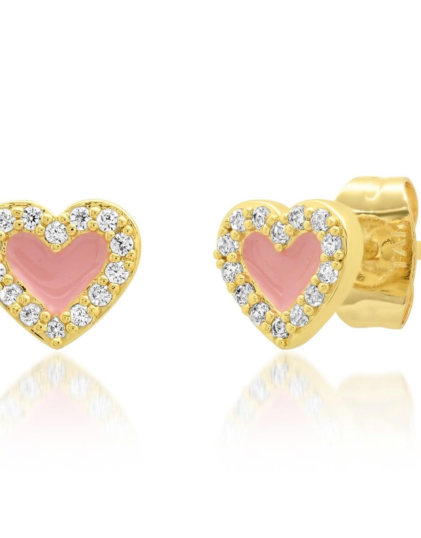 Tai Jewelry Tai Enamel Heart Earring Style ME-41