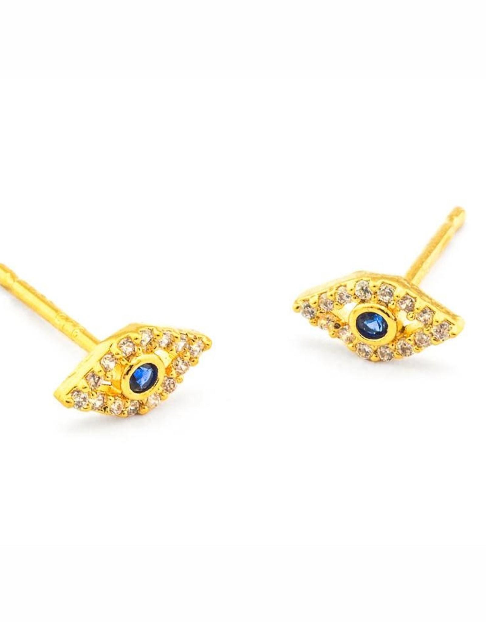 Tai Jewelry Tai Evil Eye Earring Style CZE1-G