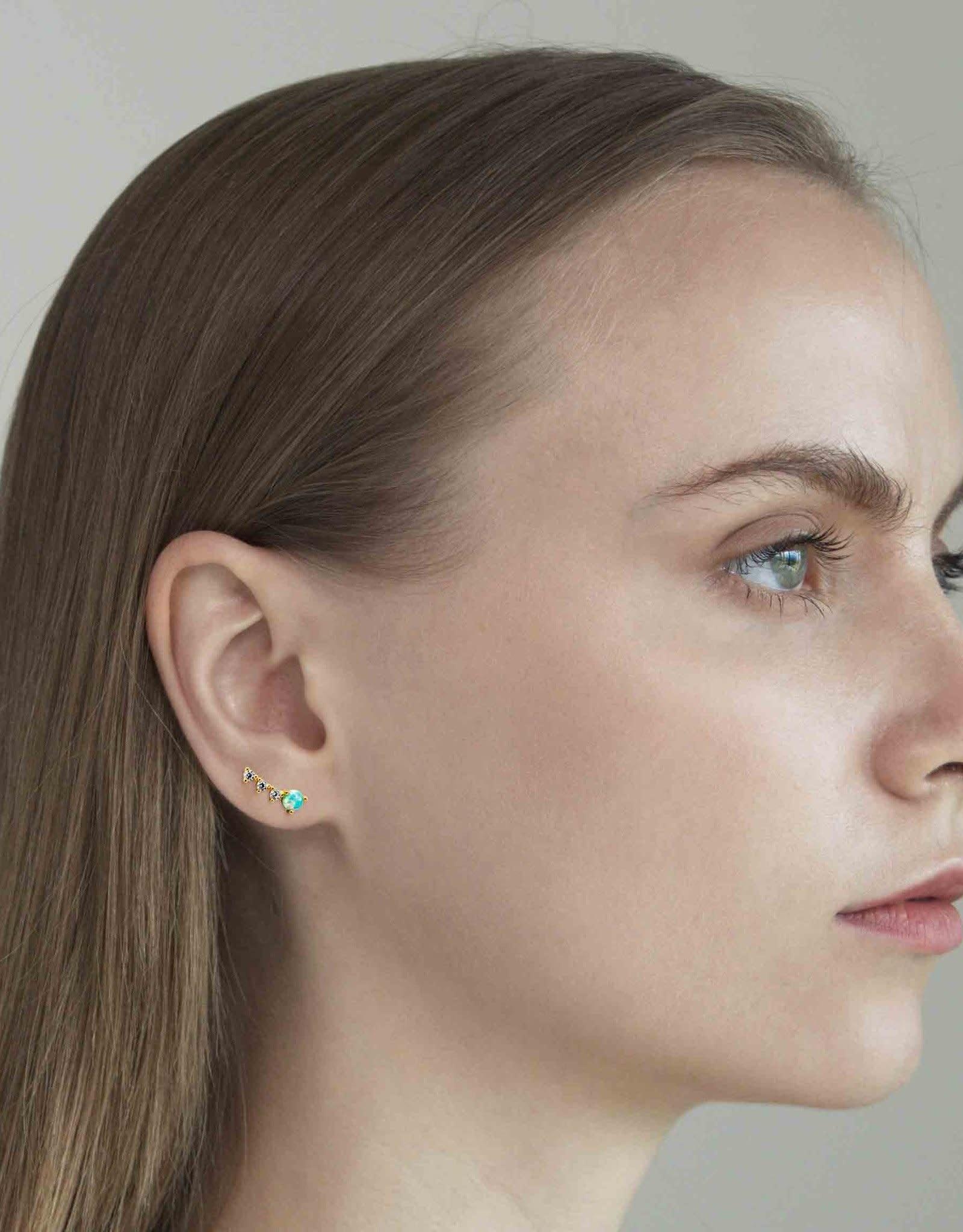 Tai Jewelry Tai 4 Stone Opal Crawler Earring